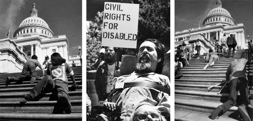 disability advocates march on the capitol