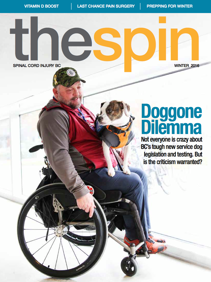 Doggone Dilemma The Bc Service Dogs Debate Spinal Cord Injury Bc