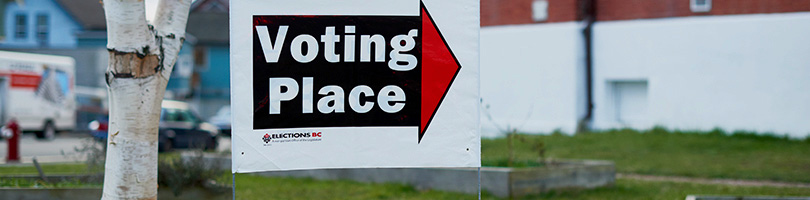 Elections BC Voting Place Sign