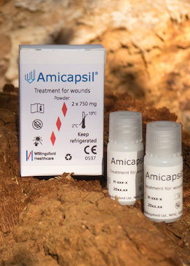 Amicapsil for treatment of pressure ulcers.