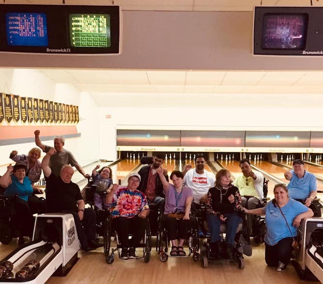 The South Fraser Active Living Group bowling, June 2019
