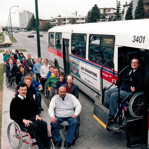 SCI BC celebrates Vancouver's first accessible bus